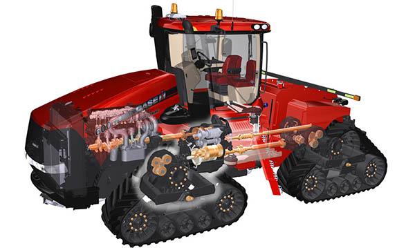 Fiat Powertrain Engines and Replacement Parts for tractors like the Case IH 620 quad track