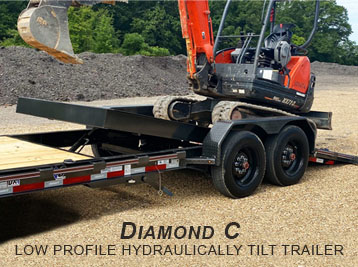 DIAMOND C LOW PROFILE HYDRAULICALLY DAMPENED TILT TRAILER IN PRESTON IDAHO