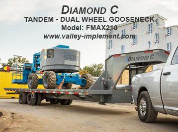 Diamond C TANDEM - DUAL WHEEL GOOSENECK FMAX210