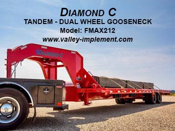 Diamond C TANDEM - DUAL WHEEL GOOSENECK FMAX212