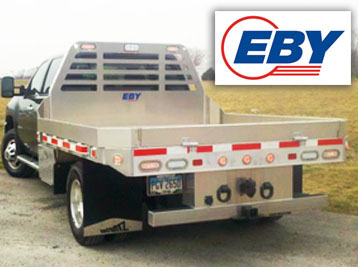 EBY aluminum livestock trailers, truck bodies and flatbed trailers