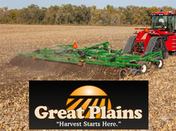 Great Plains Ag Air Drills, Compact Drills, Disc Harrows, Plows, Cultivators, Chisels & Seedbed Conditioners.