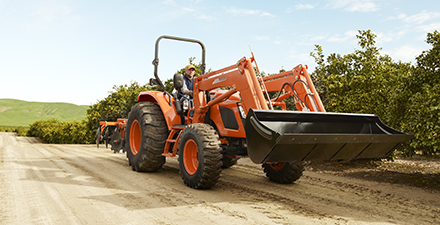 Kioti RX Series tractor features a luxury cab