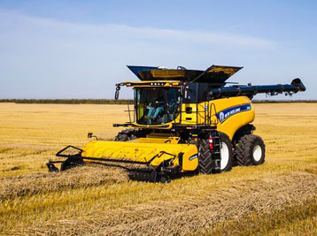 New Holland Twin Rotor Combine & Headers
