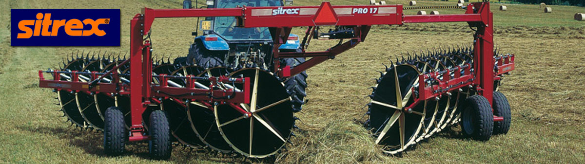Sitrex Rake Parts : Sitrex pro wheel rake windrowerfrom valley implement