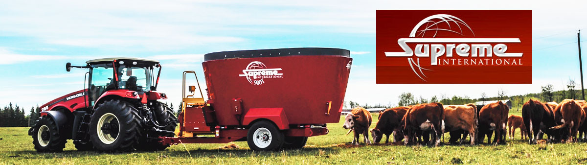 Supreme pull type twin auger feed mixer wagons
